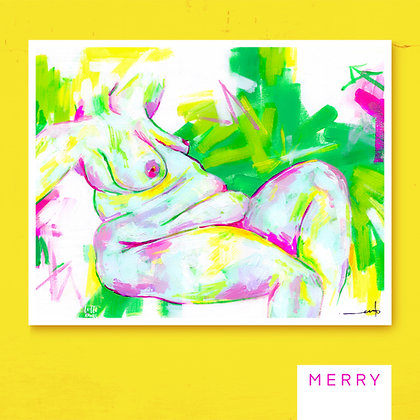 """Merry"" Giclée Print"
