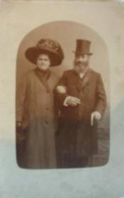 Beile Malka Zipikoff og hendes mand Salomon Nisonov Zipikoff