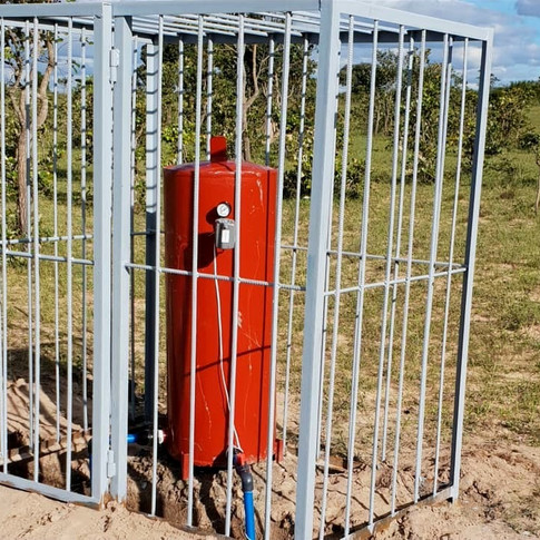 Pressure Tank and Security Cage at Installation Point