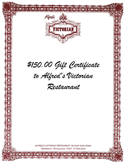 $150 Gift Certificate to Alfred's Victorian
