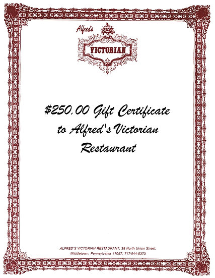$250 Gift Certificate to Alfred's Victorian