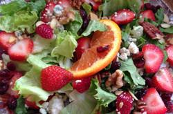 A berry salad, house made dressing