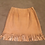 Lamb Suede Leather Fringed Skirt/Best of Boston/ The Designers; Leather Clothiers, Inc.