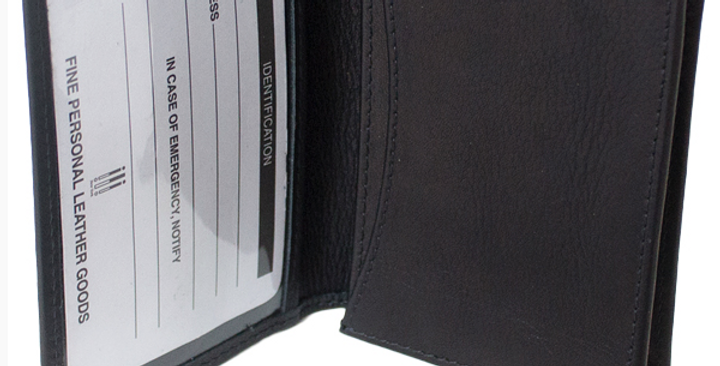 Men's Black Leather Business Card Case/The Designers; Leather Clothiers, Inc/Best of Boston