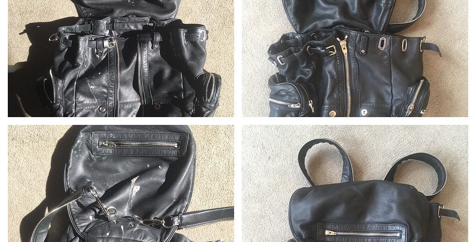 Before and after pictures of backpack cleaning/Best of Boston/The Designers: Leather Clothiers, Inc.