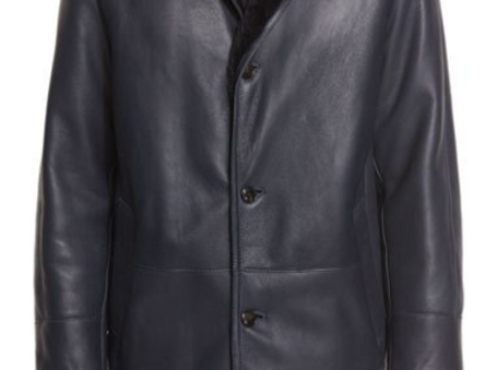 Men's Black Shearling Jacket, the Middlesex by The Designers; Leather Clothiers, Inc/ Best of Boston