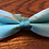 Irit Silk Bow-Tie in Turquoises by Shoshana Ernst/ he Designers; Leather Clothiers, Inc/Best of Boston