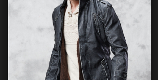 The Chelsea Black Leather Men's Jacket by The Designers; Leather Clothiers, Inc/Best of Boston