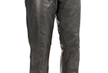 Men's Black Leather 5 Pocket Jeans by The Designers; Leather Clothiers, Inc/ Best of Boston