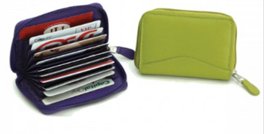 Leather Accordian Credit Card Case/The Designers; Leather Clothiers, Inc/Best of Boston
