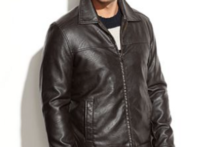 Men's Brown Leather Middlesex Jacket by The Designers; Leather Clothiers, Inc/Best of Boston