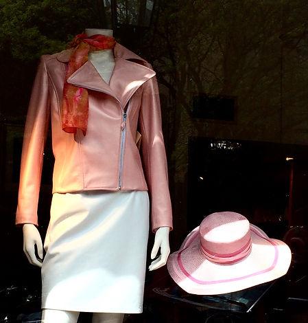 Pearlized Pink Moto Jacket