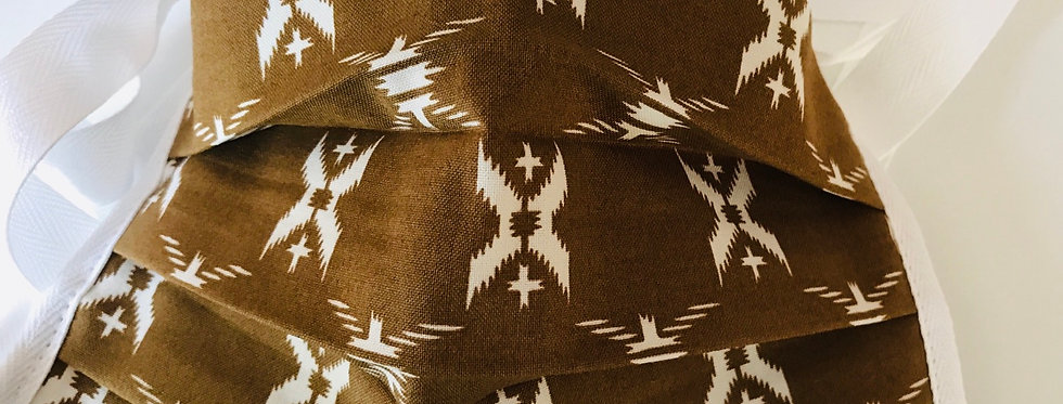 Brown Aztec Print