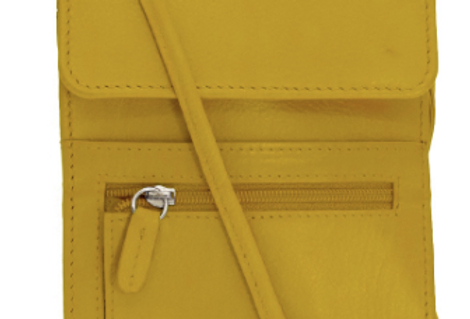 Yellow Leather Organizer on a String/Travel Bag/The Designers; Leather Clothiers, Inc/Best of Boston