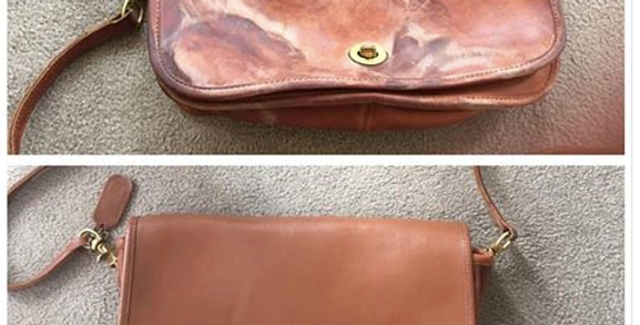 Before and After Picture of Handbag Restoration, Cleaning/Best of Boston Leather Repair/The Designers; Leather Clothiers, Inc