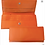 Women's Orange Leather Flap Front Clutch Wallet/The Designers; Leather Clothiers, Inc/Best of Boston