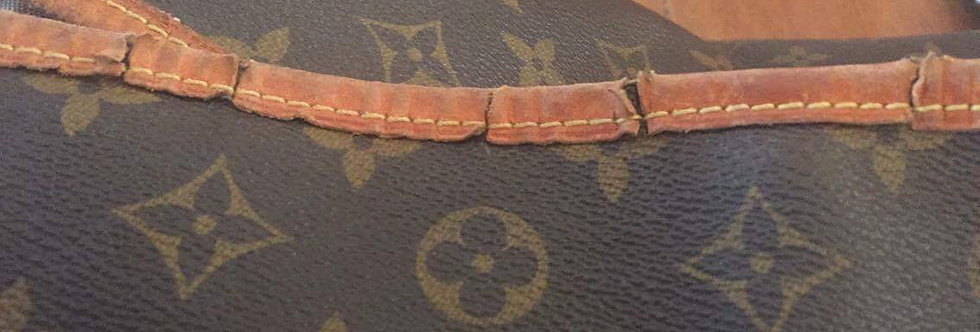 Before Picture of Damaged LV Tote/Best of Boston Leather Repair/ The Designers; Leather Clothiers, Inc