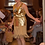 Lamb Suede Leather Fringed Skirt, Gold Metallic Leather Tunic/Best of Boston/ The Designers; Leather Clothiers, Inc.