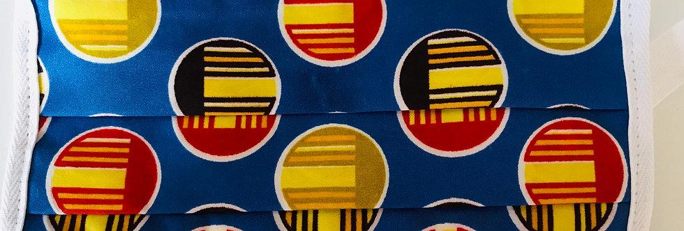 Blue African Wax Print
