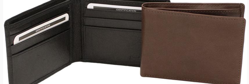 Men's Slim Bi-Fold Leather Wallet/The Designers; Leather Clothiers, Inc/ Best of Boston