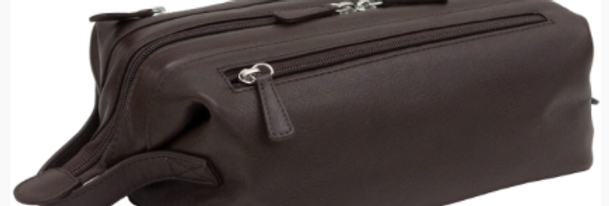 Brown Leather Toiletry Bag/The Designers Leather Clothiers/Best of Boston