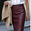 Burgundy Lambskin Leather Pencil Skirt by The Designers; Leather Clothiers, Inc.