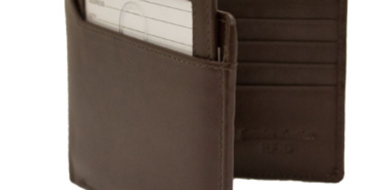 Men's Two in One Brown Leather Bifold Wallet/The Designers; Leather Clothiers, Inc/Best of Boston