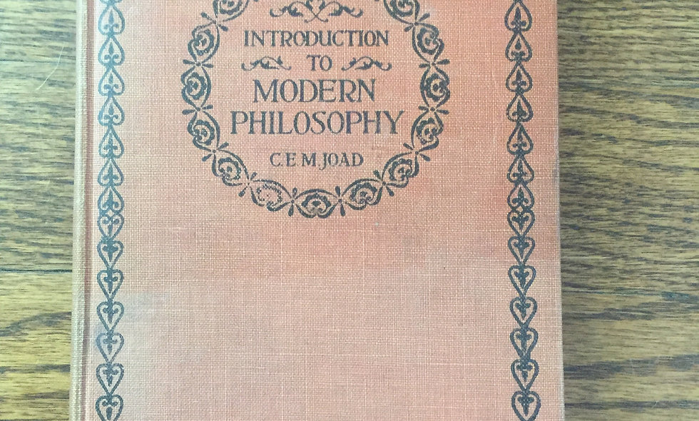 """Introduction To Modern Philosophy"" 1953"