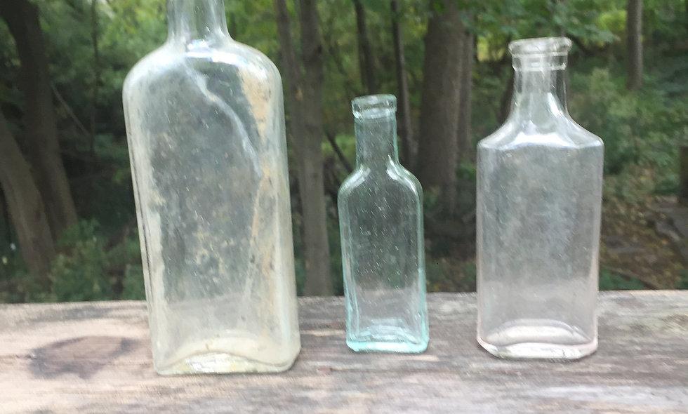 Three Antique Unmarked Bottles