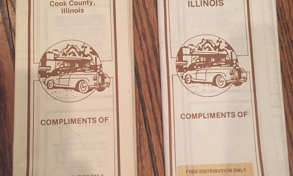 1980-81 lake and cook county road maps
