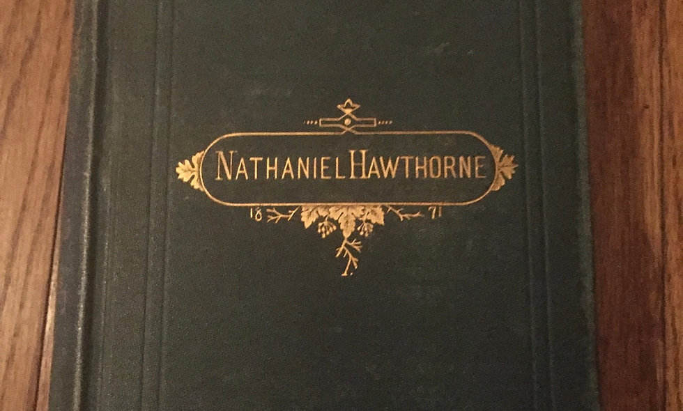 The Notes of Nathaniel Hawthorne 1871 copy