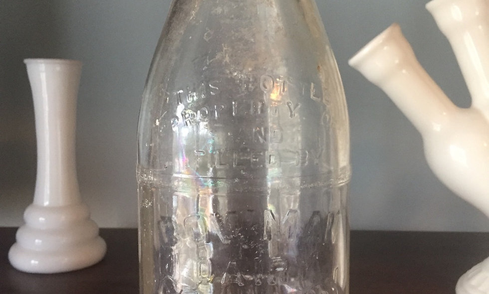 Antique local bowman dairy bottle