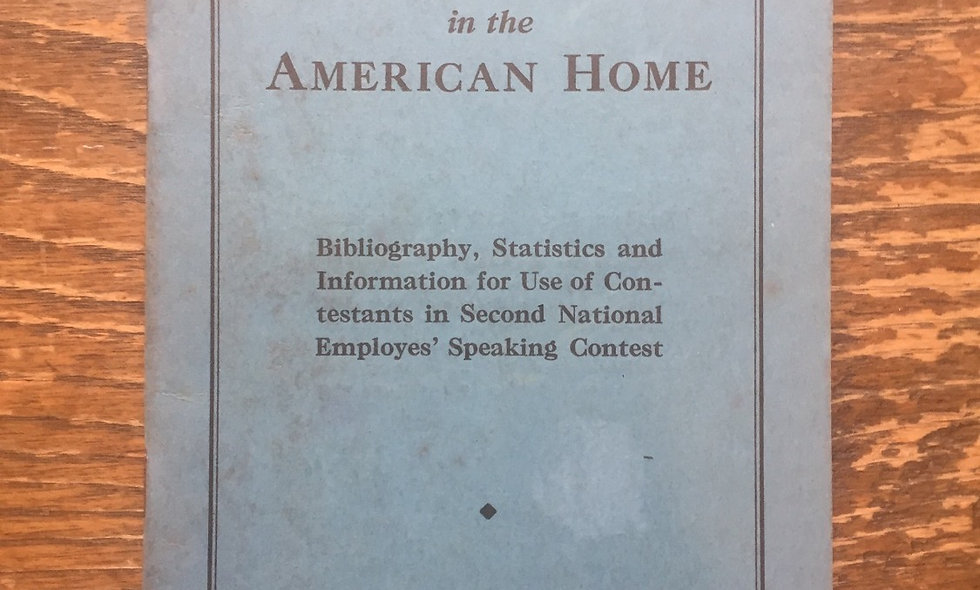 """Electric service in the American home"" 1930-1931 booklet"