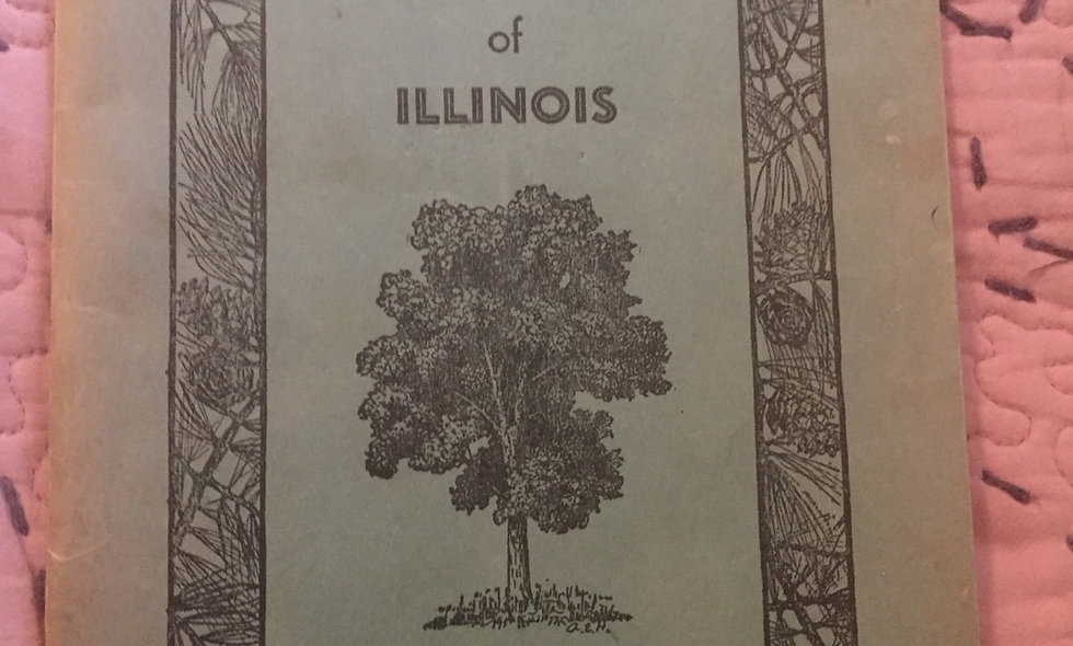 """Vintage """"forest trees of illinois"""" booklet"""