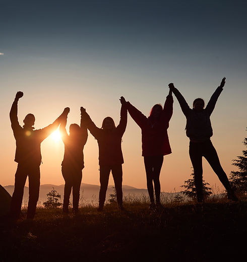 silhouette-group-people-have-fun-top-mou
