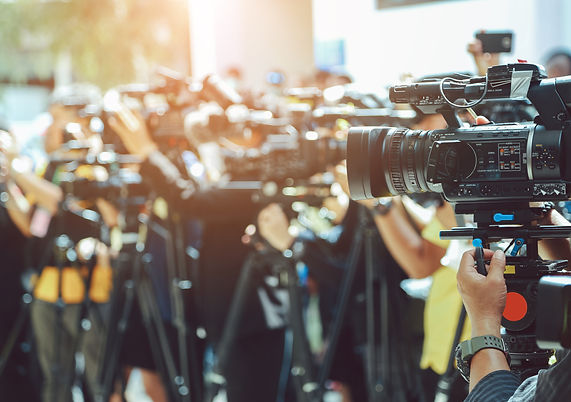 press-conference-video-camera-blurred-gr