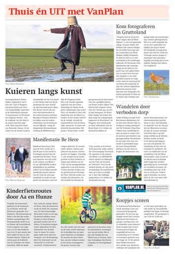 Franeker Courant, Leeuwarder Courant en Bolswarder Courant met promotie voor Kunst Achter Dijken, Pingjum