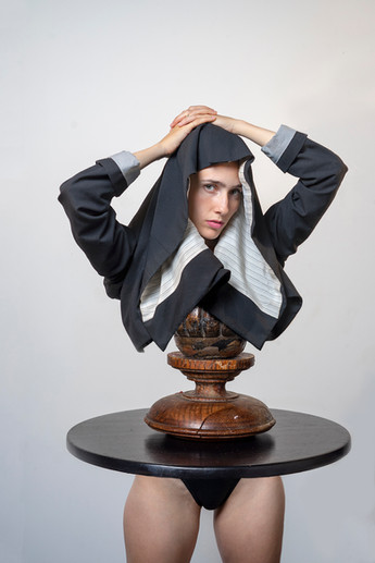 Woman on pedestral (2019)
