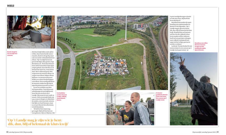 Serie 'Ronnie'published in newspaper Financieel Dagblad - weekendbijlage FD Persoonlijk (9/1/2021)