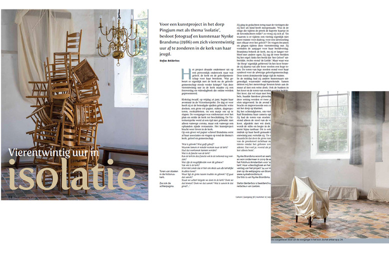 publication in Laetare with project '24hours isolation in church Pingjum' (2020)