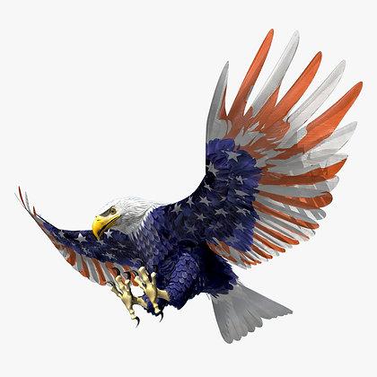 Bald Eagle Stars and Stripes - Lightwave