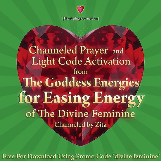 Free Channeled Prayer and Light Code Activation from The Goddess Energies
