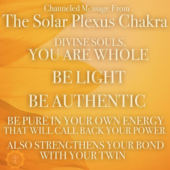 Solar Plexus Chakra Activation