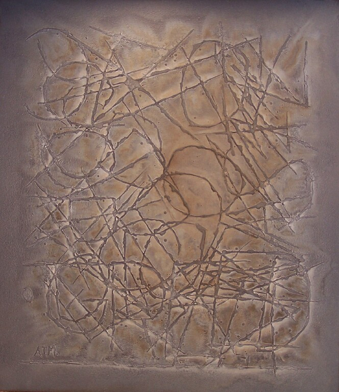 """Conscience, 2005 Oil on canvas, 48"""" x 36"""" SOLD"""