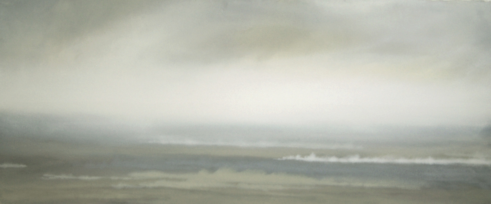 """Untitled No.29, 2011 Gouachce on Arches, 36"""" x 84"""" SOLD"""