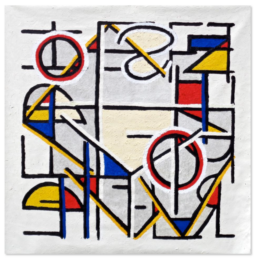 """Translation No. 32, 2015 Oil on canvas, 60"""" x 61""""  """"Only the dead have seen the end of war.""""  Plato [ 423BC - 347BC ]"""