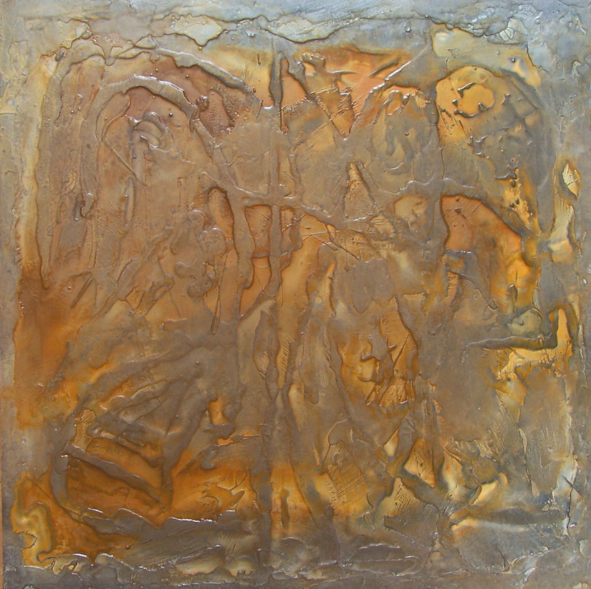 """Complexities of Nature No.2, 2009 Mixed Media on Panel, 48"""" x 48"""" Private Collection"""