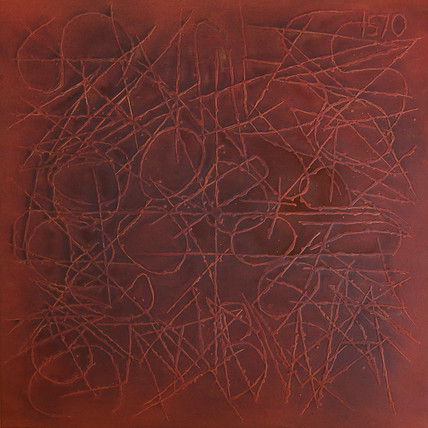 """Nine, 2005 Oil on canvas, 48"""" x 48"""" SOLD"""