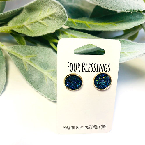 Cobalt Blue 10mm Druzy