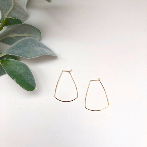 Gold Trapezoid Hoops